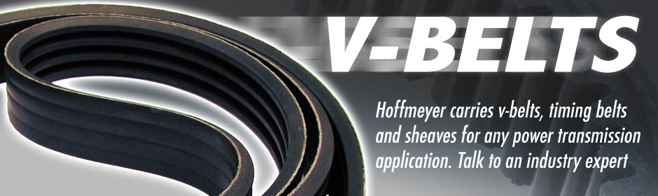 Hoffmeyer carries V-Belts, Timing Belts, and Sheaves for any power transmission application. Click here to learn more!